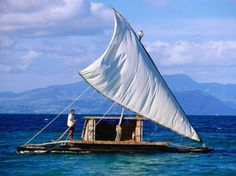 Photographic Print: Traditional Sailing Craft, Fiji Poster by Peter Hendrie : Plywood Boat Plans, Wooden Boat Plans, Floating Boat Docks, Floating House, Lakefront Property, Build Your Own Boat, Boat Building Plans, Aluminum Boat, Wood Boats