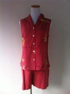 Tommy Bahama Shirt and Shorts Set 100 Silk Salmon Pink Button Down Shirt Sz 6   eBay