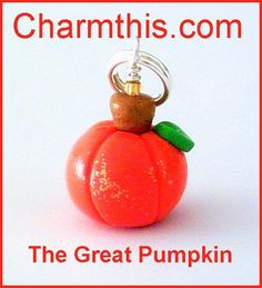 Polymer Clay Pumpkin Charm by CharmthisClayCharms on Etsy, $3.00