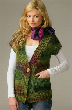Stylish sweaters for women featuring Marble Chunky from James C. Crochet Waistcoat, Sirdar Knitting Patterns, Knitting Blogs, Knitting Projects, Knit Vest Pattern, Sweater Patterns, Madame, Knit Crochet, Ponchos