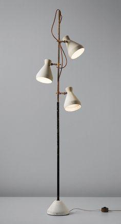 Lighting | Gino Sarfatti; Enameled Metal and Brass Floor Lamp for Arteluce, c1951. | www.bocadolobo.com