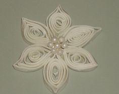 Gumpaste Quilled Snowflake, Flower for Wedding Cakes, Special Event Cakes,Cupcakes, Cake Pops, Cookies