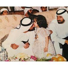 Mohammed bin Rashid bin Saeed Al Maktoum, Latifa bint Mohammed bin Rashid Al Maktoum (1ª) y Ahmed bin Saeed bin Maktoum Al Maktoum. Vía: latifamrm1