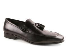 Salvatore Ferragamo black leather tassels loafers - Italian Boutique €279
