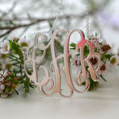 Your monogram necklace will look good in any season!