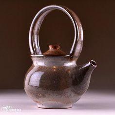 Carbon Trap Shino Stoneware Teapot on Etsy, $75.00