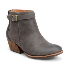Women's Kork-Ease 'Maddelena' Bootie (€170) ❤ liked on Polyvore featuring shoes, boots, ankle booties, taupe suede, taupe ankle booties, short suede boots, suede booties, kork ease boots and taupe booties