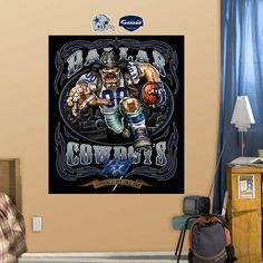 Fathead Dallas Cowboys Grinding It Out Mural - Wall Sticker Outlet
