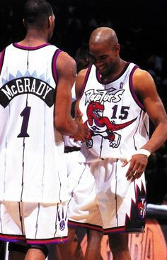 Tracy McGrady and Vince Carter, absolute Toronto Raptors legends Basketball History, Love And Basketball, Basketball Legends, Basketball Players, Basketball Court, Toronto Raptors, Larry Bird, Inside The Nba, Tracy Mcgrady