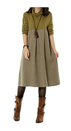 Generic Women's Fall Maxi Dress Cotton Linen Fall Clothing Green Mordenmiss http://www.amazon.com/dp/B00OBSCOB0/ref=cm_sw_r_pi_dp_YCvmvb02P45XE