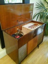 VINTAGE MARCONI RECORD PLAYER & RADIO RADIOGRAM WORKING SHOP DISPLAY PROP 1961
