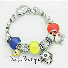 Evil Eye Elephant Charm Bracelet Multi Color 2xist Jewelry Bracelets