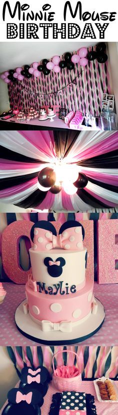 Minnie Mouse Theme First Birthday Part Girl Ideas
