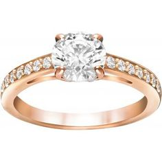 Buy Swarovski Rose Gold Tone Attract Ring at Hugh Rice Jewellers. Free delivery on Swarovski. Rated 5 stars by our customers Crystal Jewelry, Jewelry Rings, Fine Jewelry, Accessories Jewellery, Swarovski Ring, Swarovski Crystals, Couleur Or Rose, Gold Diamond Wedding Band, Engagement Wedding Ring Sets