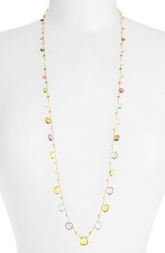 Marco Bicego 'Paradise' Long Station Necklace available at #Nordstrom