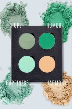 Faces with Stories green eyeshadow palette Inspire Lipstick Palette, Green Eyeshadow, Lipsticks, Nail Care, Huda Beauty, Makeup Yourself, Green Colors, Makeup Looks, Faces