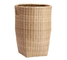 With its thick weave and variegated color, our Torrey Collection captures the organic beauty of wicker and requires no maintenance. This handcrafted basket keeps your pillows, throws and other outdoor essentials within easy reach. Cutout handles m… Basket Organization, Storage Baskets, Guest Room Office, Decorative Storage, Workout Rooms, Porch Decorating, Organic Beauty, Household Items, Pottery Barn