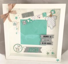 Ribba Bilderrahmen Zur Geburt Fräulein Falten Rock Avec Stampin Up Ribba Et FullSizeRender 8 3 Stampin Up Ribba Sur La Cat Gorie Home Deko Ideen Scrabble Frame, Pop Up Frame, Box Frames, Baby Presents, New Baby Gifts, Stampin Up, Nursery Frames, Baby Frame, Nursery Decor