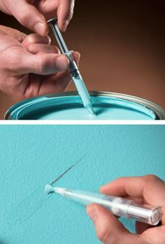 I had no idea this existed! Awesome idea to paint retouching around the house (paint retouch pen)