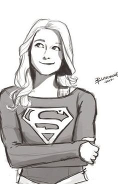 Supergirl by: blindwire Supergirl Kara, Supergirl And Flash, Supergirl Outfit, Supergirl Superman, Supergirl Season, Character Drawing, Comic Character, Supergirl Drawing, Cartoon Drawings