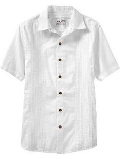 Men's Guayabera Shirts | Old Navy    Groom