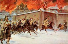 El incendio de Moscú de Jerzy Kossak Más en www.elgrancapitan.org/foro