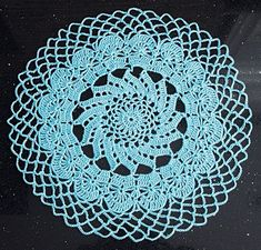 Mary Maxim - A modern take on a classic design. Kit makes 2 doilies. Shown in Cool Blue or choose any Mary Maxim Fresh color. Doilies, Mary, Kit, Fresh, Cool Stuff, Classic, Floral, Modern, Projects