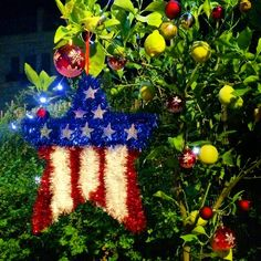Avi MayerVerified account @AviMayer  7m7 minutes ago  More   The younger guests at my Jerusalem Fourth of July party took Christmas ornaments and turned my lemon tree into an Independence Day tree. 🇺🇸🎄