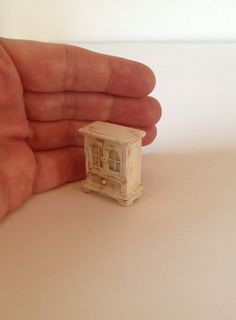 Miniature 1/4 1:48 Quarter Inch Scale Hutch Dresser Cabinet Shabby Chic Furniture Doll House OOAK