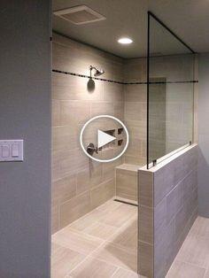 50 Cool Shower Design Ideas for Your Bathroom Diy Bathroom Remodel, Shower Remodel, Diy Bathroom Decor, Simple Bathroom, Modern Bathroom Design, Bathroom Renovations, Bathroom Ideas, Shower Ideas, Shower Makeover