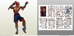 Papercraft .pdo file template for League of Legends - Muay Thai Lee Sin.