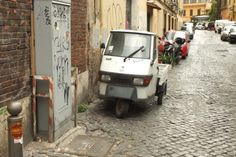 That is a ridiculously small truck #italy #rome #car #truck #small