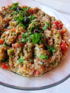 A Seasonal Cook in Turkey: Summer Eggplants: different version Patlıcan Salatası/Aubergine Salad