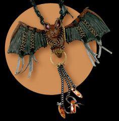 Just a Little Batty Necklace by Christi Friesen