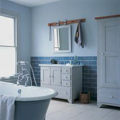 Łazienka niebieska