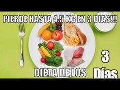 DIETA DE LOS 3 DIAS. *ADELGAZA HASTA 4.5 KG EN 3 DIAS Y 18 KG EN UN MES!!! - YouTube
