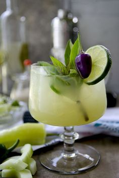 Exotic destination in glass anyone? Spicy Thai Basil Cucumber Cocktail is a sweet way to enjoy the heat of late summer! Hot, cool and refreshing…   ChicChicFindings.etsy.com Aperitif Cocktails, Cocktail Drinks, Cocktail Recipes, Refreshing Cocktails, Liquor Drinks, Bourbon Drinks, Cocktail Ideas, Summer Cocktails, Drink Recipes