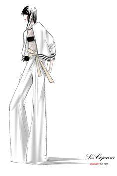 Fashion illustration - fashion design sketch for Les Copains