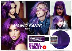 Manic Panic Amplified Ultra Violet  Vellus Hair Studio 83A Tanjong Pagar Road S(088504) Tel: 62246566
