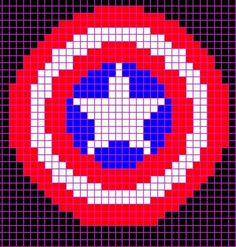 Captain America Stitch Pattern