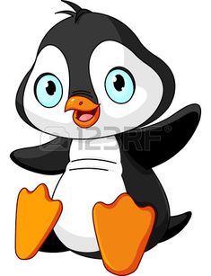 Cartoon illustration of cute baby penguin