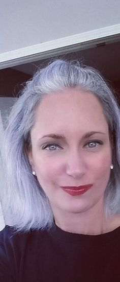 Grey hair.  Dye free is the way to be.