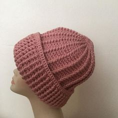 #https://plus.google.com/109529045317539395596/posts/K1qvnrrqNwm#crochet#beanie#handmade#pink#cotton#chunky