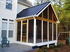 metal roof for screened porch
