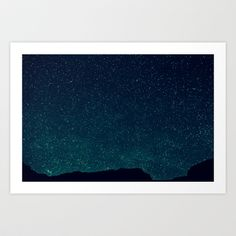 "Society6 - Desert Stars Art Print by Melanie Ann - $40 for 28"" x 20"""