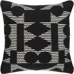 PATTERNITY John Lewis Reflect Cushion, Black ($41) ❤ liked on Polyvore featuring home, home decor, throw pillows, black toss pillows, black home accessories, black throw pillows, patterned throw pillows and black home decor