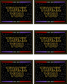 Star Wars Free Printable Thank You Cards | CatchMyParty.com