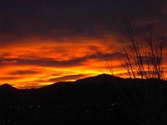 Sunset over Pike's Peak