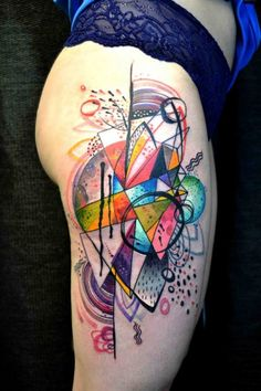 Sketchy watercolors tattoos by Petra Hlavackova