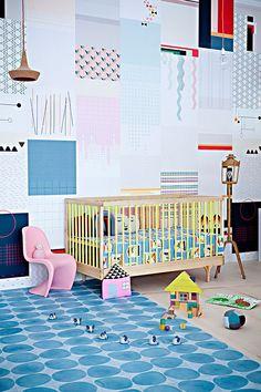 Quartos de bebé decorados em estilo escandinavo